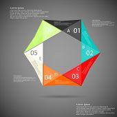 Hexagon Origami Infographic