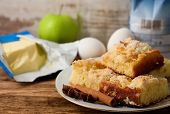 Plate With Several Portions Of Apple Cake And Spice