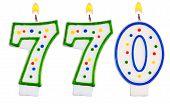 Candles Number Seven Hundred Seventy