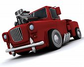 Charicature Of Supercharged 50's Classic Pickup Truck