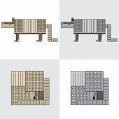 image of armadillo  - symbol icon design cartoon rectangle animal armadillo - JPG