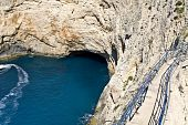 Sea cave at Lefkada island, Greece