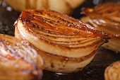 Caramelized Onions With Balsamic Vinegar. Macro Horizontal