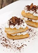 foto of nack  - sweet puff pastry with cream - JPG