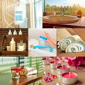 stock photo of beauty salon interior  - Collage of multiple photos  - JPG