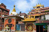 Boudhanath Buddhist temple, Kathmandu, Nepal