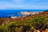 pic of canary  - Los Cristianos and La Gomera view from Guaza mountain - JPG