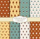 Tea and coffee backgrounds