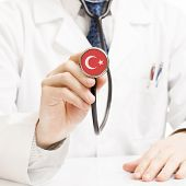 Doctor Holding Stethoscope With Flag Series - Turkey