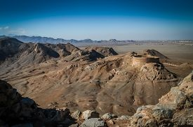 foto of zoroastrianism  - Towers of silence - old zoroastrian burial sites in Yazd, Iran ** Note: Soft Focus at 100%, best at smaller sizes - JPG
