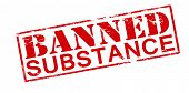 picture of bans  - Rubber stamp with text banned substance inside vector illustration - JPG