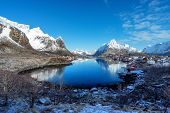 foto of reining  - snow in Reine Village - JPG