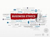 stock photo of ethics  - Business Ethics and Guidelines as a design illustration concepts for business consulting finance management career - JPG