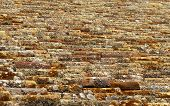 stock photo of roof tile  - Roof tiles background - JPG