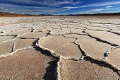pic of salt mine  - Ojo del Mar in a salt desert in the Jujuy Province - JPG
