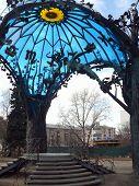 sculpture sphere of love in Chelyabinsk