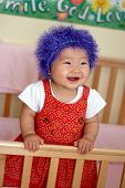 Asian Baby With Crazy Looking Hair