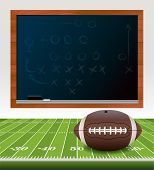 picture of x-files  - An illustration of an American football ball laying on a turf football field - JPG