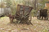 picture of iron ore  - An antique cart used to haul  - JPG
