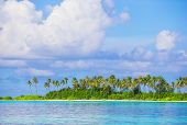 foto of deserted island  - Perfect white beach with turquoise water at ideal island - JPG