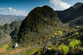 picture of plateau  - Dong Van Karst Plateau Global Geopark is located in the northeastern province of Viet Nam - JPG