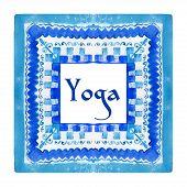 picture of yoga  - ector yoga illustration - JPG