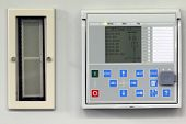 image of relay  - Numerical power system protection relay with test switch - JPG