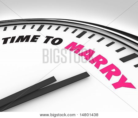 Time To Marry Clock For