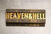Heaven & Hell in Letterpress Type