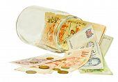 Singapore Dollar in a jar