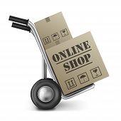 Online Shop Cardboard Box