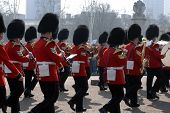 foto of beefeater  - Buckingham Palace Army Parade in the Streets of London - JPG