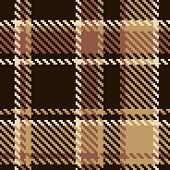 Seamless Tartan Brown Abstract