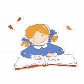 Schoolgirl With Book.