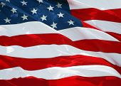 pic of waving american flag  - American flag background waving in the wind  - JPG