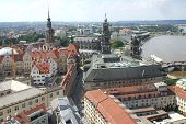 High View of a residential area from Dresden, Germany