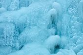 Icicles Of Frozen Waterfall