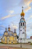 Kremlin Square With Resurrection Cathedral And Bell Tower In Vologda,russia poster
