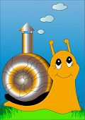 Snail With Lodge, Pipe With Smoke