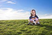 Cute little girl soccer player