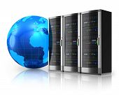 stock photo of mainframe  - Internet and global communications concept - JPG