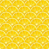 Lemon Slices Seamless Pattern. Cute Yellow Lemon Slices. Citrus Fruit Background. Summer Bright Colo poster