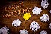 Conceptual Hand Writing Showing Target Marketing. Business Photo Showcasing Market Segmentation Audi poster