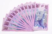 picture of nzd  - Close up of dollar notes in New Zealand currency - JPG