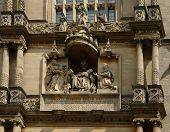 Sculptures On A House Facade In Oxford
