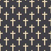 Christian Cross Pattern. Simple Illustration Of Christian Cross Vector Pattern For Web. Conversation poster