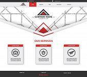 Home Page Website Design Template. Website Design For Your Business. Ux, Ui Kit For Website Design.  poster