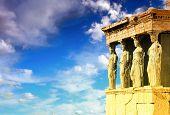 Caryatids, erechtheion temple Acropolis, Athens Greece