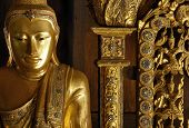 Myanmar, Salay: Statue In A Yosqson Kyaung In Salay Monastery