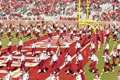 The Fsu Marching Chiefs Perform At Halftime